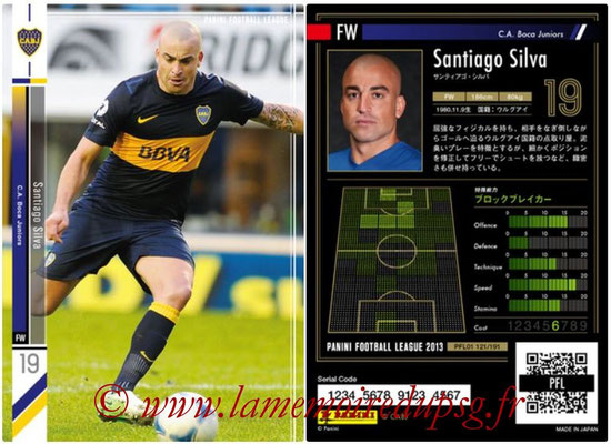Panini Football League 2013 - PFL01 - N° 121 - Santiago Silva ( C.A. Boca Juniors )