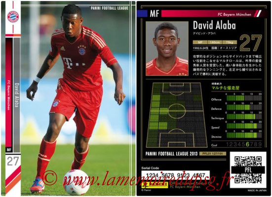 Panini Football League 2013 - PFL01 - N° 127 - David Alaba ( FC Bayern Munchen )