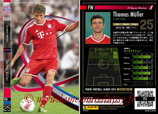 Panini Football League 2014 - PFL07 - N° 086 - Thomas MÜLLER (Bayern Munich) (Star)