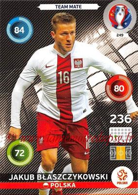 Panini Euro 2016 Cards - N° 249 - Jakub BLASZCZYKOWSKI (Pologne)
