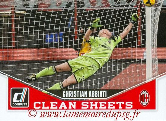 2015 - Panini Donruss Soccer - N° CS01 - Christian ABBIATI (Milan AC) (Clean Sheets)