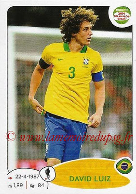 2014 - Panini Road to FIFA World Cup Brazil Stickers - N° 003 - David LUIZ (Brésil)