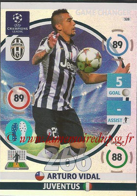 2014-15 - Adrenalyn XL champions League N° 328 - Arturo VIDAL (Juventus) (Game Changer)