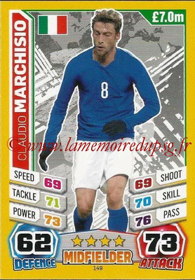 Topps Match Attax England 2014 - N° 149 - Claudio MARCHISIO (Italie)