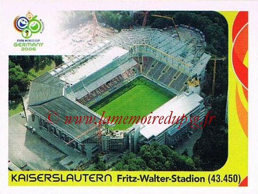 2006 - Panini FIFA World Cup Germany Stickers - N° 013 - Kaiserslautern - Fritz-Walter-Stadion