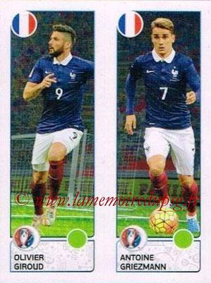 Panini Euro 2016 Stickers - N° 042 - Olivier GIROUD + Antoine GRIEZMANN (France)