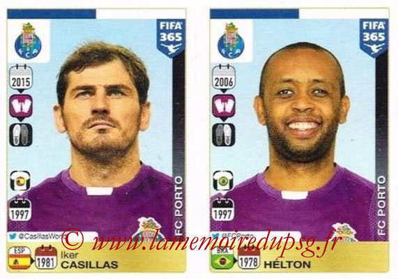 2015-16 - Panini FIFA 365 Stickers - N° 702-703 - Iker CASILLAS + HELTON (FC Porto)