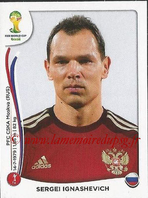 2014 - Panini FIFA World Cup Brazil Stickers - N° 605 - Sergei IGNASHEVICH (Russie)