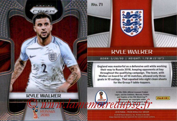 2018 - Panini Prizm FIFA World Cup Russia - N° 071 - Kyle WALKER (Angleterre)