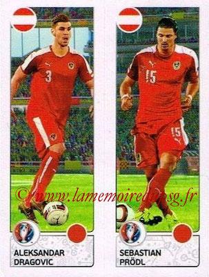 Panini Euro 2016 Stickers - N° 651 - Aleksandar DRAGOVIC + Sebastian PRODL (Autriche)