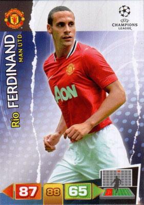 2011-12 - Panini Champions League Cards - N° 144 - Rio FERDINAND (Manchester United FC)