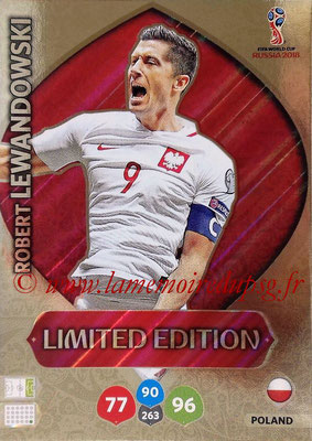 2018 - Panini FIFA World Cup Russia Adrenalyn XL - N° LE-RL - Robert LEWANDOWSKI (Pologne) (Limited Edition)