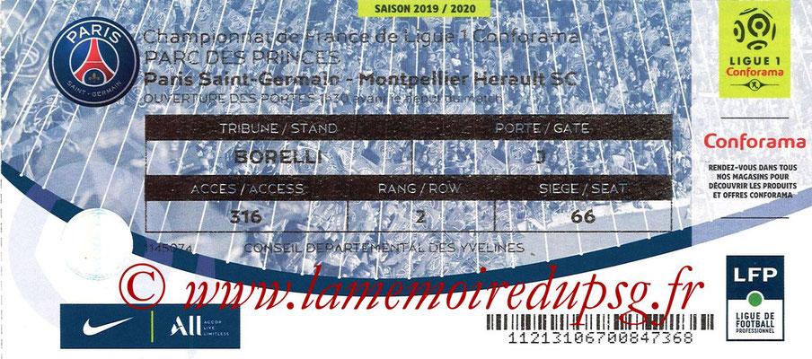 Tickets  PSG-Montpellier  2019-20