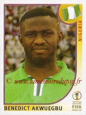 2002 - Panini FIFA World Cup Stickers - N° 417 - Benedict AKWUEGBU (Nigéria)