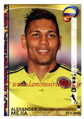 Panini Copa America Centenario USA 2016 Stickers - N° 050 - Alexander MEJIA (Colombie)