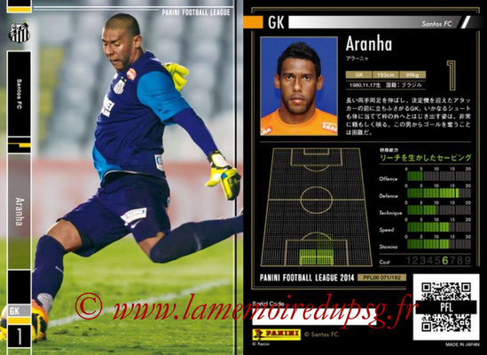 Panini Football League 2014 - PFL06 - N° 071 - ARANHA (Santos FC)