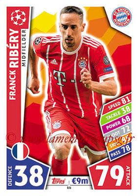 2017-18 - Topps UEFA Champions League Match Attax - N° 066 - Franck RIBERY (FC Bayern Munich)