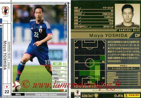 2015-16 - Panini WCCF - N° 328 - Maya YOSHIDA (Japon)