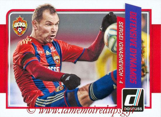 2015 - Panini Donruss Soccer - N° DD09 - Sergei IGNASHEVICH (CSKA Moscou) (Defensive Dynamos)