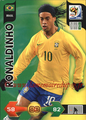 2010 - Panini FIFA World Cup South Africa Adrenalyn XL - N° 042 - RONALDHINO (Bresil)