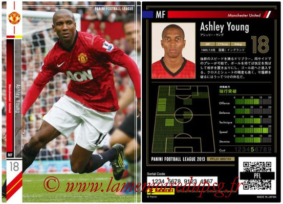 Panini Football League 2013 - PFL01 - N° 085 - Ashley Young ( Manchester United  )