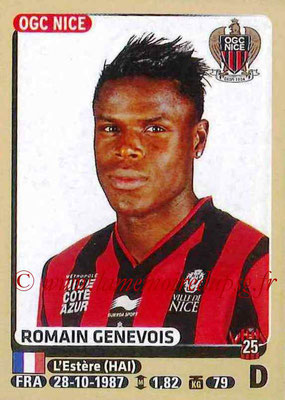 2015-16 - Panini Ligue 1 Stickers - N° 320 - Romain GENEVOIS (OGC Nice)