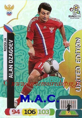 Panini Euro 2012 Cards Adrenalyn XL - N° LE43 - Alan DZAGOEV (Russie) (Limited edition)
