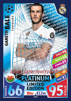2017-18 - Topps UEFA Champions League Match Attax - N° LE1P - Gareth BALE (Real Madrid CF) (Limited Edition Platinium)