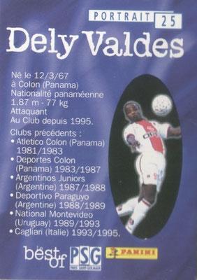 N° 025 - Julio Cesar DELY VALDES (Verso)