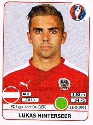 Panini Euro 2016 Stickers - N° 645 - Lukas HINTERSEER (Autriche)