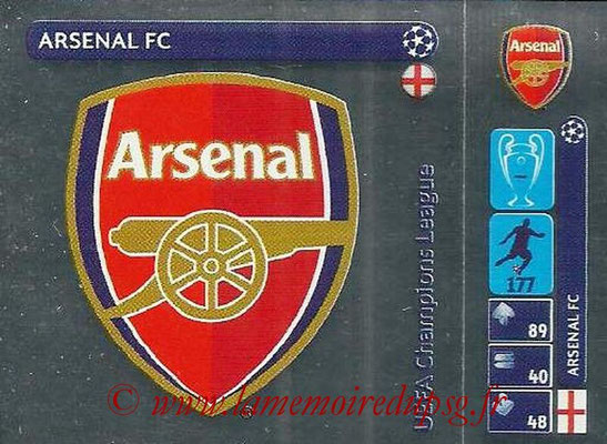 2014-15 - Panini Champions League N° 017 - Logo Arsenal FC