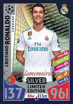 2017-18 - Topps UEFA Champions League Match Attax - N° LE1S - Cristiano RONALDO (Real Madrid CF) (Limited Edition Silver)