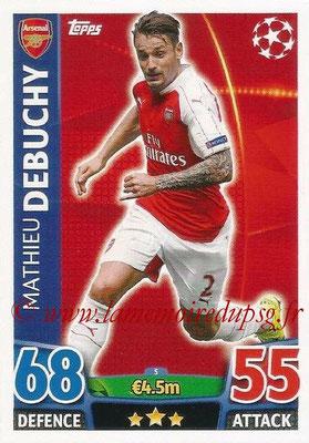 2015-16 - Topps UEFA Champions League Match Attax - N° 005 - Mathieu DEBUCHY (Arsenal FC)