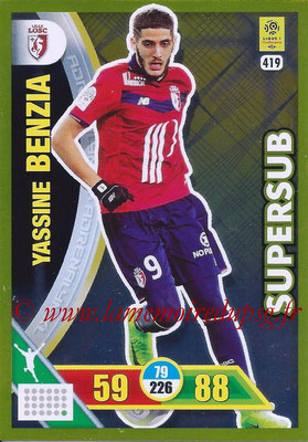 2017-18 - Panini Adrenalyn XL Ligue 1 - N° 419 - Yassine BENZIA (Lille) (Supersub)