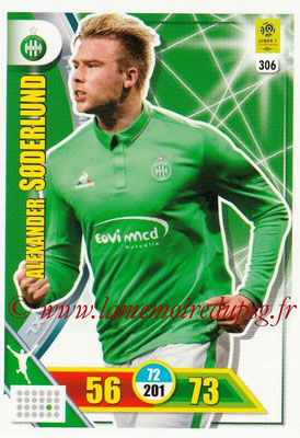 2017-18 - Panini Adrenalyn XL Ligue 1 - N° 306 - Alexander SODERLUND (Saint-Etienne)
