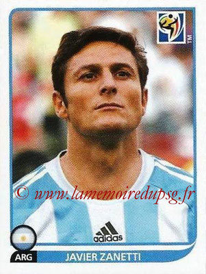 2010 - Panini FIFA World Cup South Africa Stickers - N° 113 - Javier ZANETTI (Argentine)