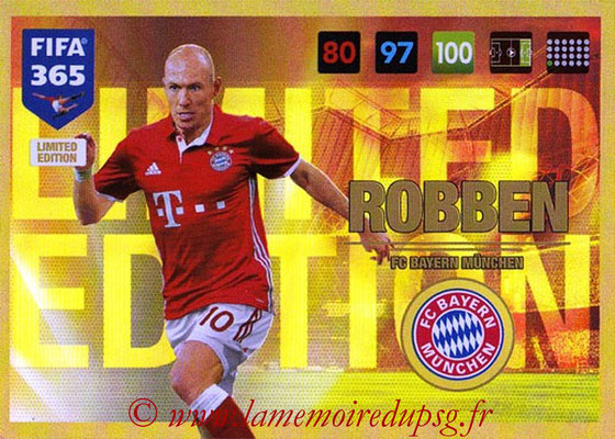 2016-17 - Panini Adrenalyn XL FIFA 365 - N° LE21 - Arjen ROBBEN (FC Bayern Munich) (Limited Edition)