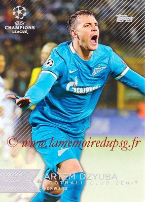 2015-16 - Topps UEFA Champions League Showcase Soccer - N° 187 - Artem DZYUBA (FC Zenit)