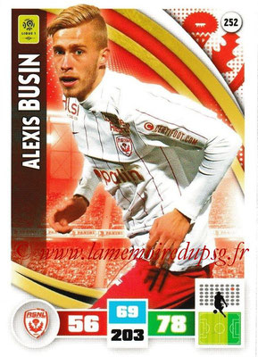 2016-17 - Panini Adrenalyn XL Ligue 1 - N° 252 - Alexis BUSIN (Nancy)