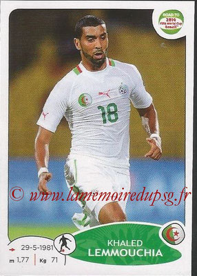 2014 - Panini Road to FIFA World Cup Brazil Stickers - N° 378 - Khaled LEMMOUCHIA (Algérie)