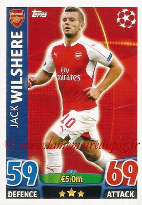 2015-16 - Topps UEFA Champions League Match Attax - N° 009 - Jack WILSHERE (Arsenal FC)