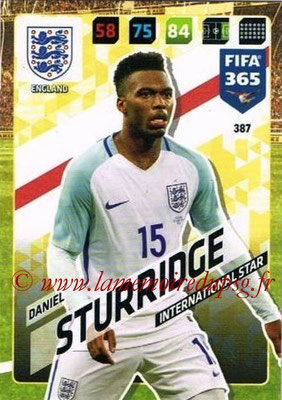 2017-18 - Panini FIFA 365 Cards - N° 387 - Daniel STURRIDGE (Angleterre) (International Star)