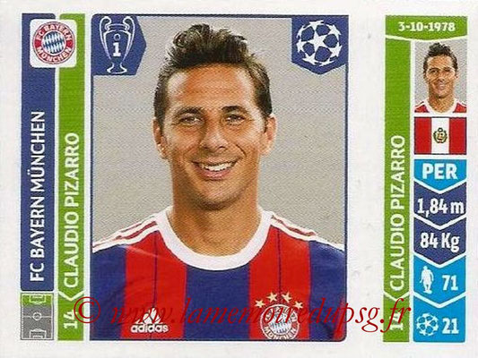 2014-15 - Panini Champions League N° 362 - Claudio PIZARRO (FC Bayern Munich)