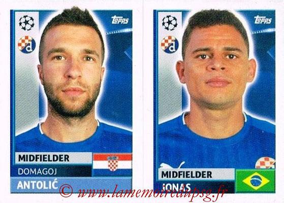 2016-17 - Topps UEFA Champions League Stickers - N° QFC 9-10 - JONAS + Domagoj ANTOLIC (GNK Dynamo Zagreb)