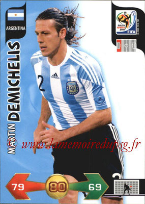 2010 - Panini FIFA World Cup South Africa Adrenalyn XL - N° 009 - Martin DEMICHELIS (Argentine)