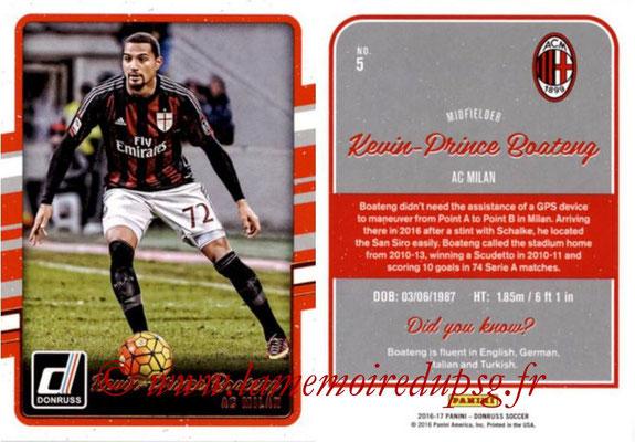 2016 - Panini Donruss Cards - N° 005 - Kevin-Prince BOATENG (Milan AC)