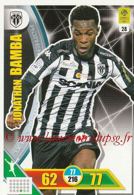 2017-18 - Panini Adrenalyn XL Ligue 1 - N° 028 - Jonathan BAMBA (Angers)
