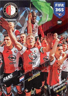 2017-18 - Panini FIFA 365 Cards - N° 267 - Célébration Feyenoord (Milestone)