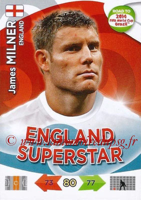 2014 - Panini Road to FIFA World Cup Brazil Adrenalyn XL - N° 068 - James MILNER (Angleterre)