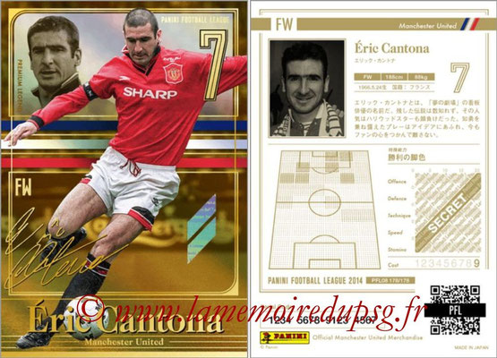Panini Football League 2014 - PFL08 - N° 178 - Eric CANTONA (Manchester United) (Premium Legend)